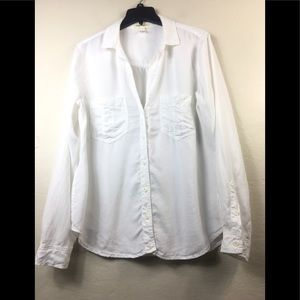 Cloth & stone white button down shirt size large